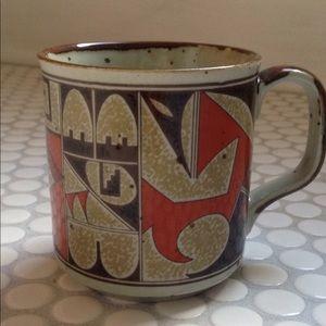 Vintage 1970s pottery mug